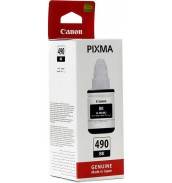 GI-490 Bk [0663C001] Картридж Canon для PIXMA G1400/G2400/G3400, черные пигментные чернила, 135мл.