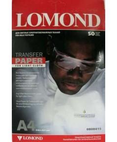 Бумага (термотрансферная) для переноса изображения на светлую ткань LOMOND INK JET TRANSFER PAPER FOR BRIGHT CLOTH, A4 (50 л.) [0808415]