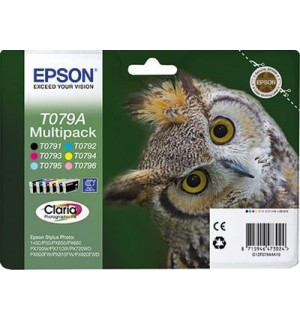 T079A4A Набор картриджей для Epson Stylus Photo P50/ PX650/PX660/ 700w/ 710w/ 800FW/ 810FW/ PX820FWD; RX560/ 585/ 685; R265/ 285/ 360 (6 цветов)