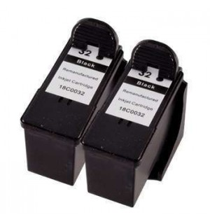 18CX032(2) №32 *2шт. = 80D2956  Двойная упаковка картриджей для Lexmark Z815, X5250, P915/ P6250 (Bl