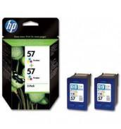 Уцененная C6657A *2шт= C9503AE Двойная упаковка картриджей HP дешево