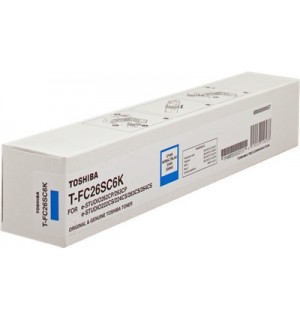 T-FC26SC6K Тонер Toshiba для e-STUDIO262CP/263CP/222CS/224CS/263CS синий, ресурс – 6 000 отпечатков