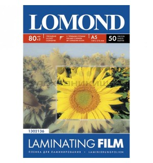 Lomond глянцевая пленка для ламинирования формат 80мм*111мм, 80 мкм. 25 пакетов [1302116]