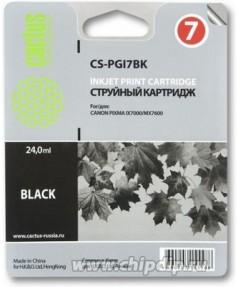 PGI-7BK Совместимый картридж Cactus CS-PGI7BK черный для CANON Pixma iX7000/ MX7600 (24 мл)