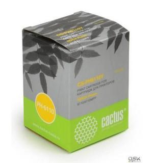 106R01204 совместимый Картридж Cactus для Xerox Phaser 6110/6110MFP. Yellow (1000 стр.)