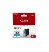 PGI-1400XL C [9202B001] Голубой картридж для Canon MAXIFY МВ2040/МВ2340  (12мл.,  до 1020 листов формата A4.)