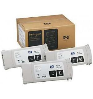 C5066A HP 81 Комплект черных картриджей для графопостроителей DesignJet 5000/5500, 3шт. по 680 мл.
