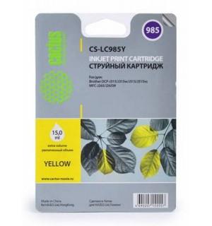 LC-985Y Совместимый Картридж Cactus для Brother DCP-J315W/J515W, MFC-J265W, Yellow