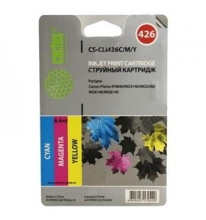 CLI-426 CMY Комплект совместимых чернильниц Cactus CS-CLI426C/M/Y для CANON PIXMA Series IP4840/ 494