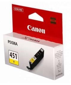 CLI-451Y [6526B001] Картридж Желтый для PIXMA MG5440/MG5540/MG6340/MG6440/MG7140, iP7240, iP8740, MX924. 329 страниц.