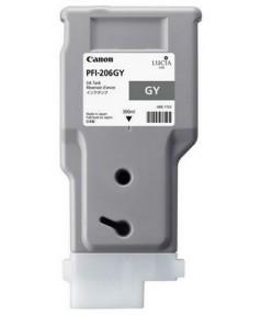 PFI-206GY (Grey) [5312B001] Картридж с чернилами для плоттера Canon iPF6400/6450 (300 мл)