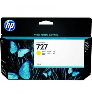 B3P21A Картридж HP 727 с желтыми чернилами для принтеров HP Designjet T1500/ T2500/ T920 серии ePrinter, 130 мл