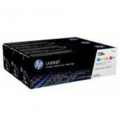 CF371AM HP 128A Набор картриджей C+M+Y (CE321A+CE322A+CE323A) для HP LJ для PRO CM1415fn; CP1525N/CP1520 /CP1525NW (3*1300стр)
