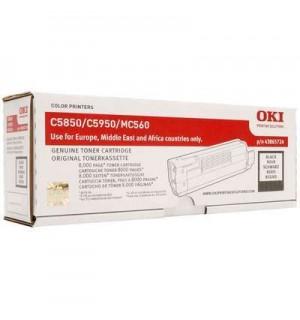 43865724/43865744 Тонер-картридж черный для принтеров OKI C5850/ C5950/ mc560 (8000 стр)