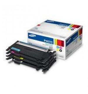 CLT-P407C Набор из 4-х картриджей Samsung (черный и цветные) для CLP-320/325, CLX-3185 (ресурс: цвет