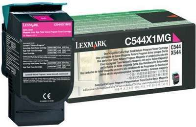 C544X1MG Картридж для Lexmark C540, C543, C544, X543, X544 Magenta Extra High Yield Return Program