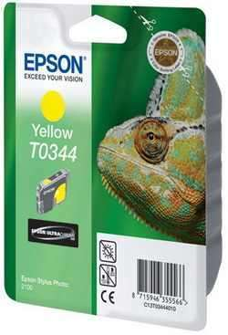 УЦЕНЕННЫЙ T034440 Картридж для Epson Stylus Photo 2100 Yellow (440стр.)