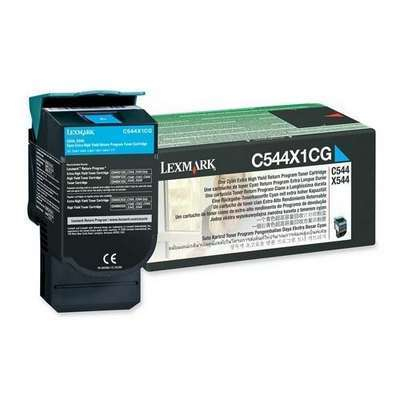C544X1CG Картридж для Lexmark C540, C543, C544, X543, X544 Cyan Extra High Yield Return Program  4K
